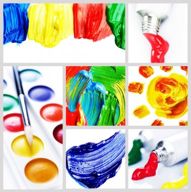 Color Paint Collage stock vector