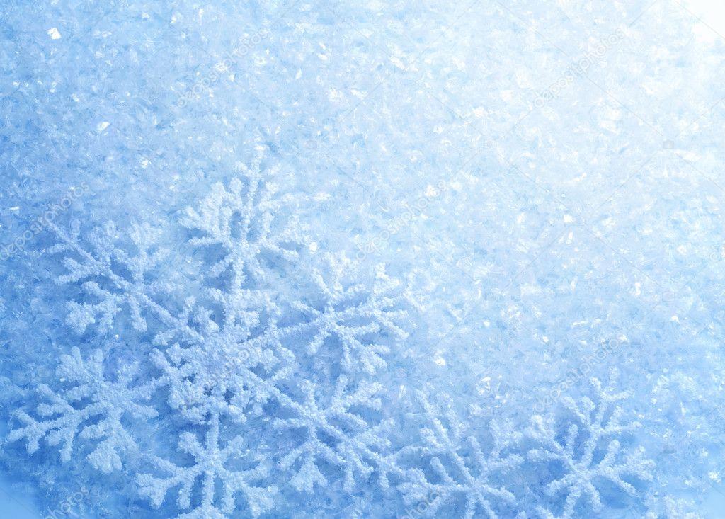 Зима снежинки лед макро без смс