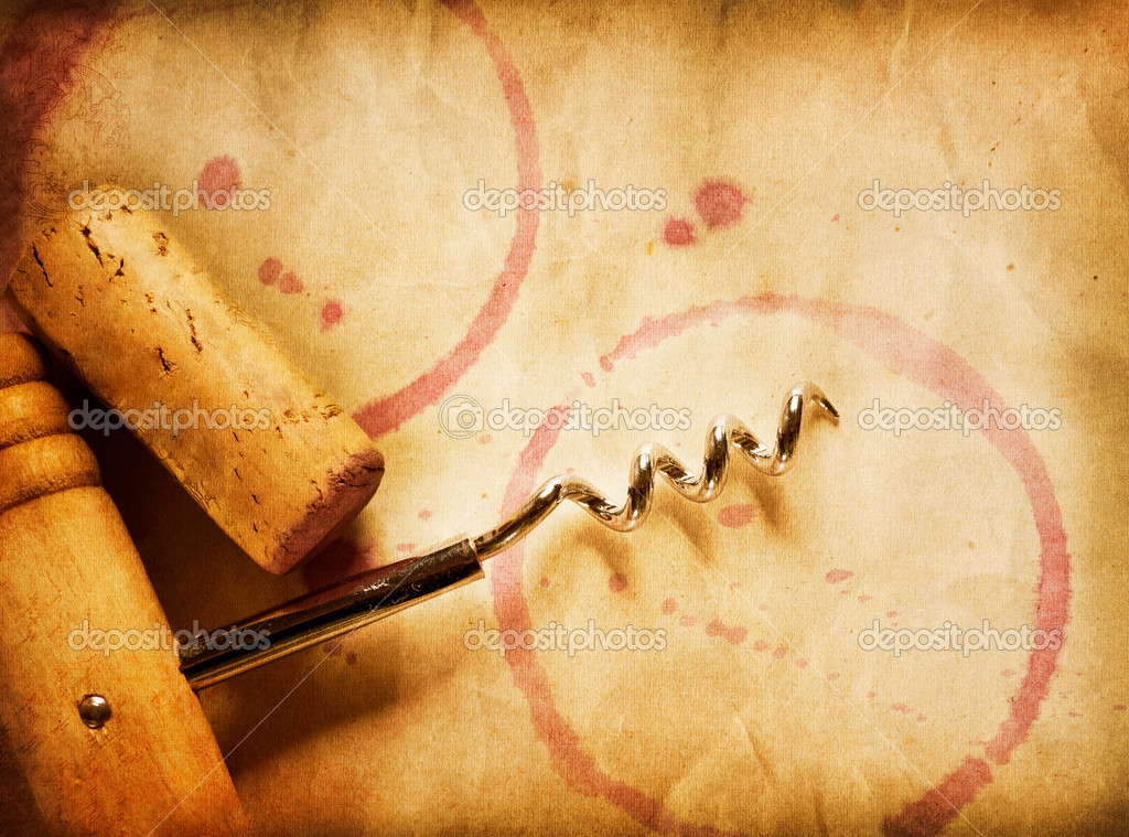 Fondo vino vino de corcho sacacorchos y las manchas de - Manchas de vino ...