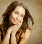 Fényképek gyönyörű romantikus nő portré
