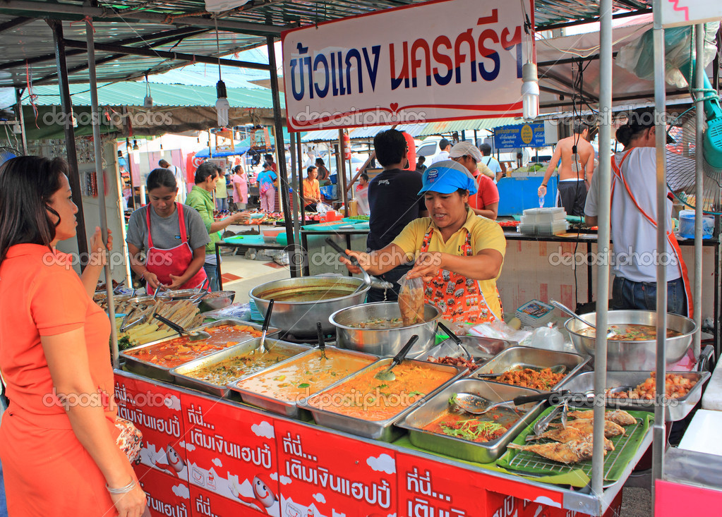 Thai food market, Phuket, Thailand
