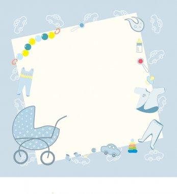 Blue frame for newborn boy