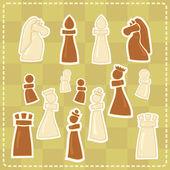 Samolepky s obrázky stylizované šachy