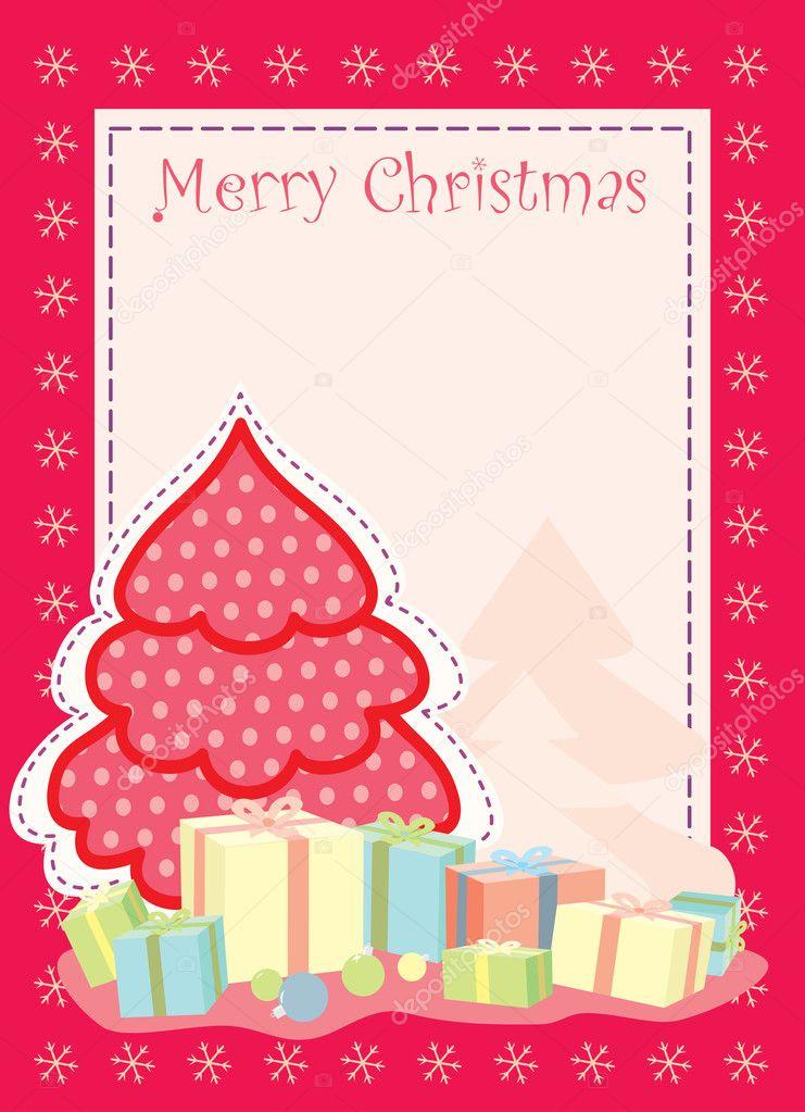 Auguri Di Natale 105.Biglietto Di Auguri Di Natale Con Albero Di Natale Stilizzato