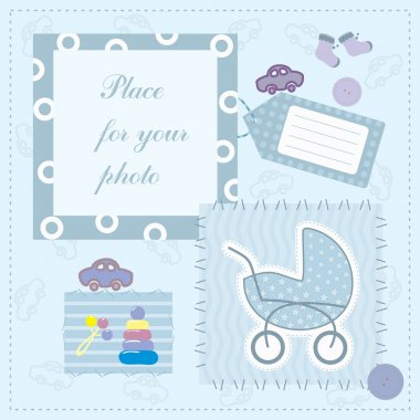Frame for baby's photo