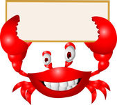 Photo Crab With Blank Sign