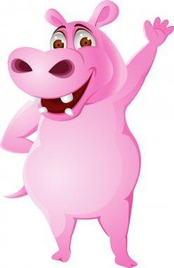 Hippo cartoon isolated
