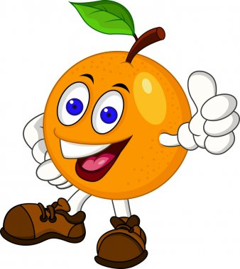 Orange cartoon character