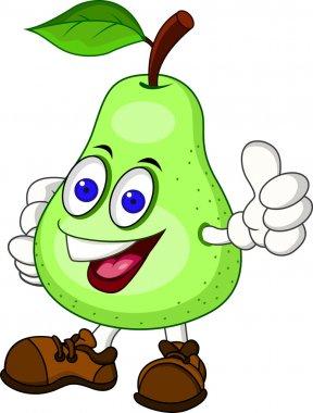 Pear Cartoon Character