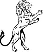 tribal tetování lva