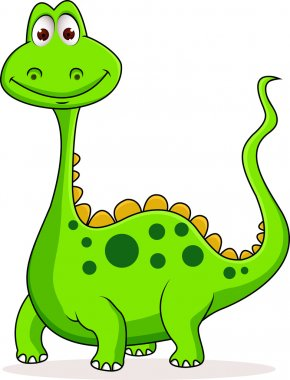 Cute green dinosaur cartoon