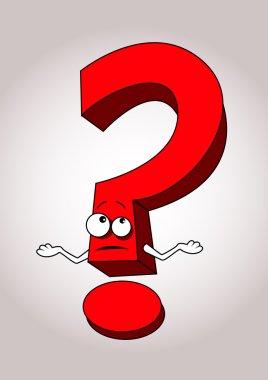 Question mark cartoon