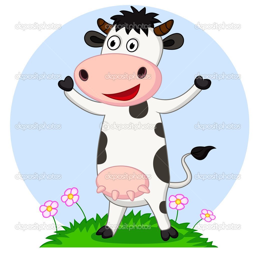 funny cow cartoon u2014 stock vector idesign2000 10671327
