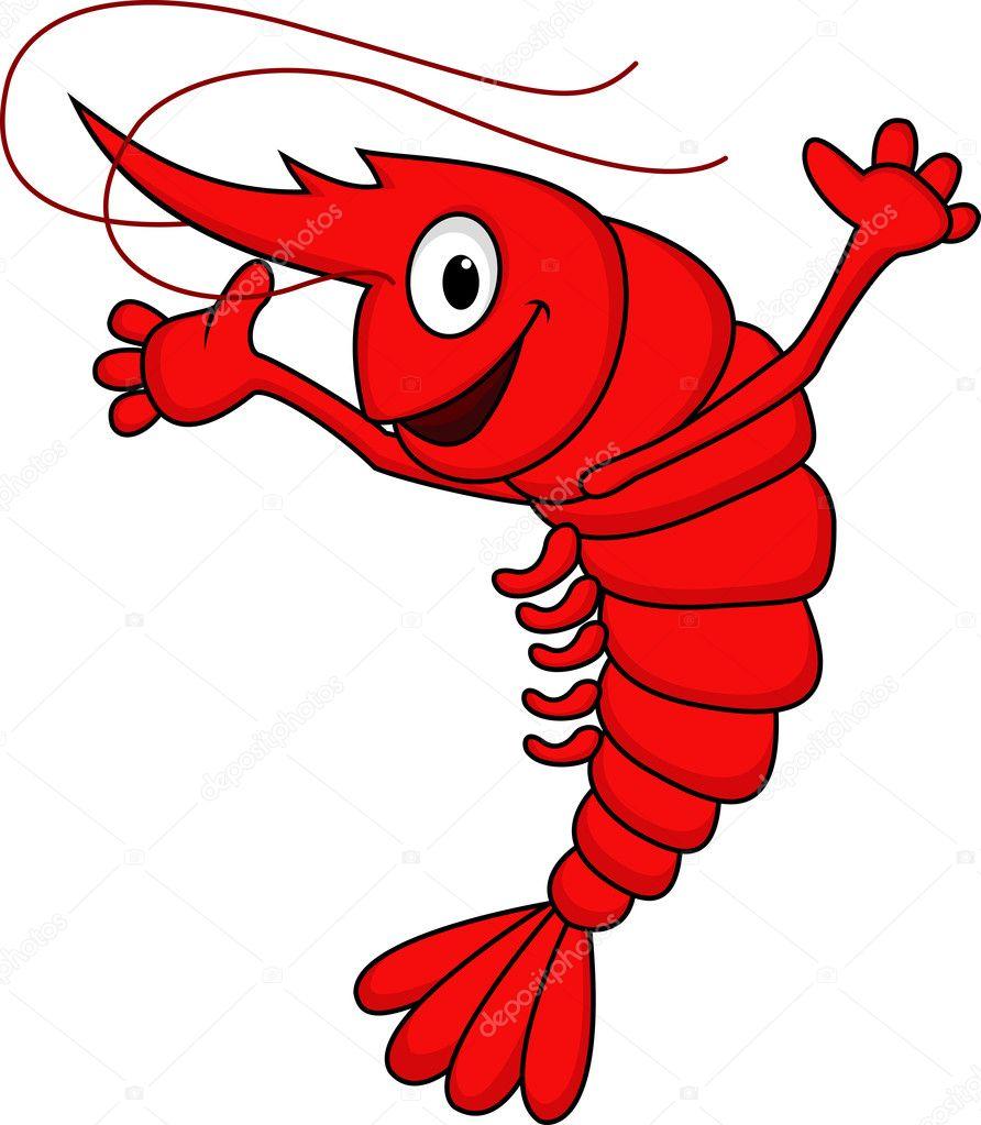 shrimp cartoon stock vector idesign2000 10671343 rh depositphotos com shrimp cartoon clip art Cooked Shrimp Clip Art
