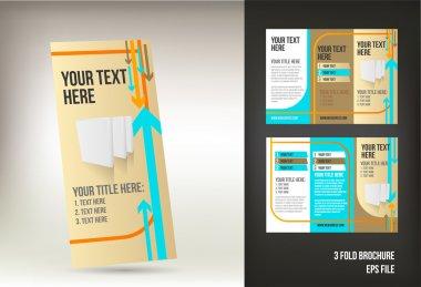 Retro tri fold brochure template