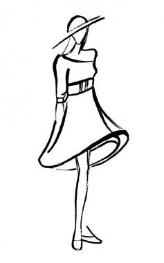 Fashion dressed woman