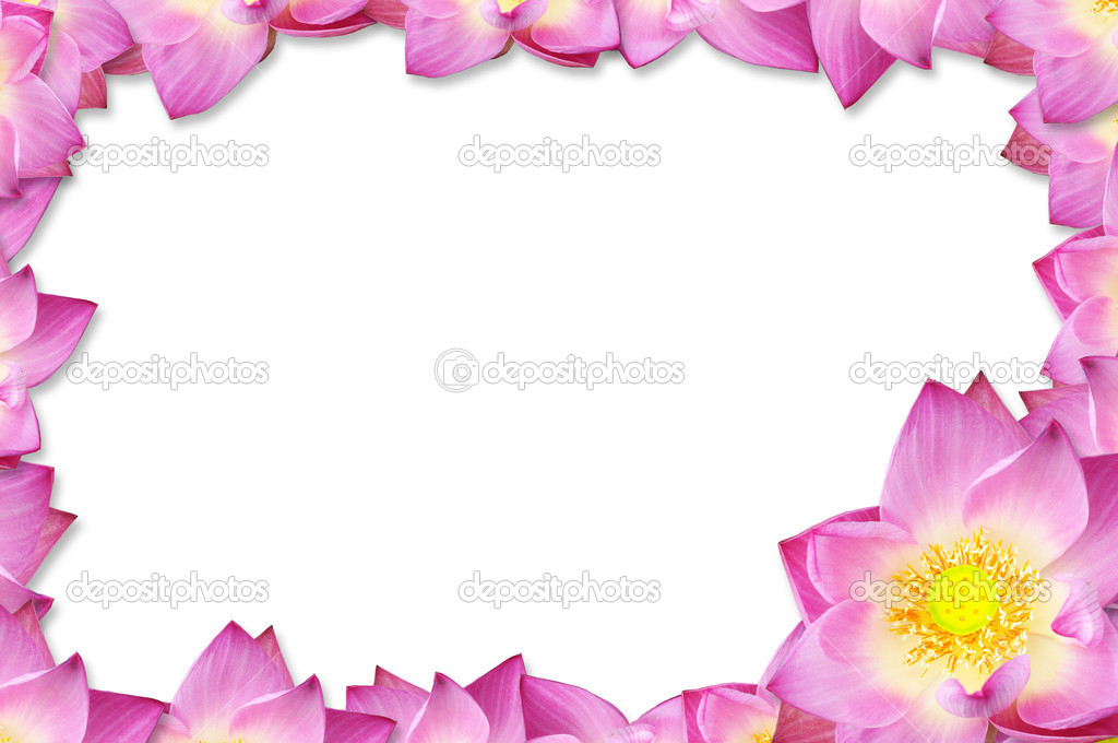 Pink lotus frame background.
