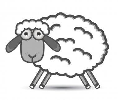 """Картина, постер, плакат, фотообои """"вектор овец """", артикул 10627193"""