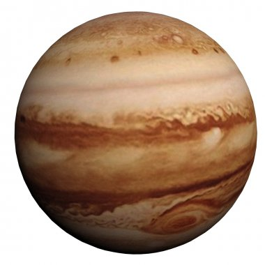 This nice 3D picture shows the planet jupiter