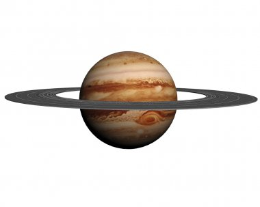 This nice 3D picture shows the planet saturn