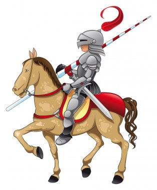 Knight and horse.