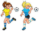 Soccer female players.