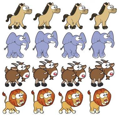 Animal Walking animations .