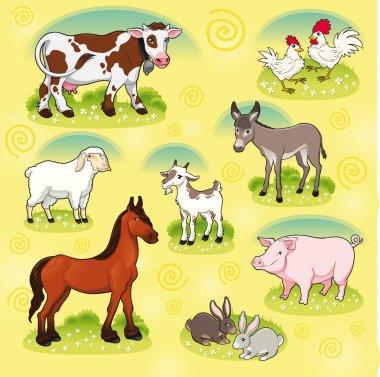 Farm animals.