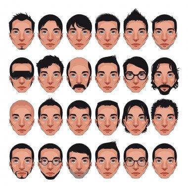 Avatar, men's portraits.