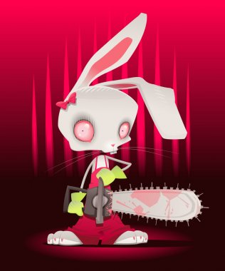 Horror bunny with background.