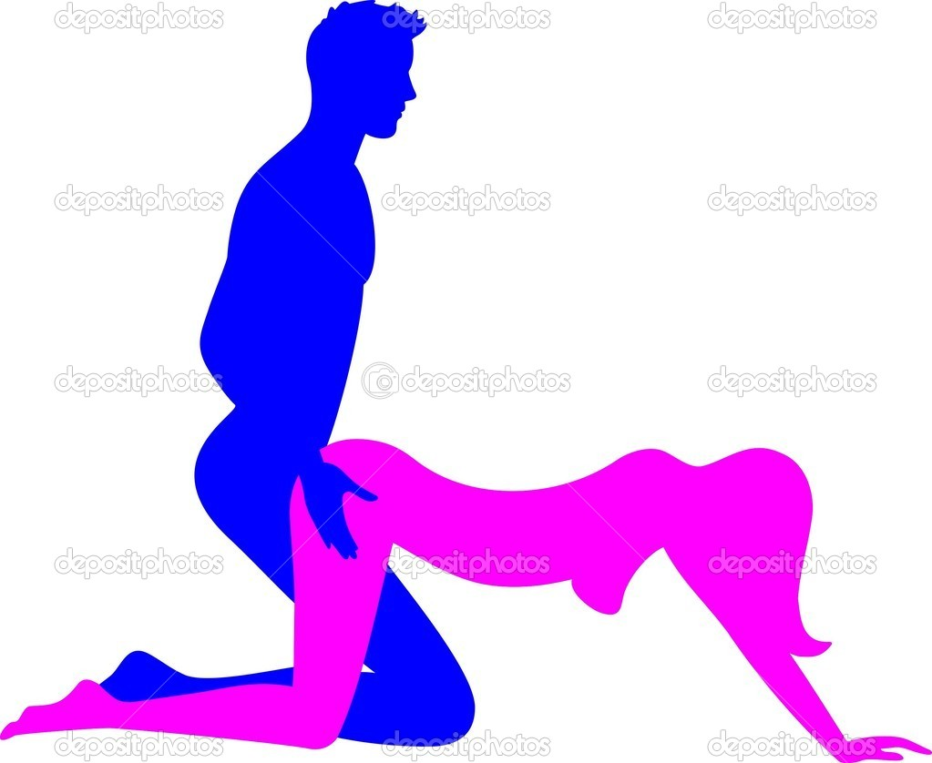sex position - doggy style — stock vector © zamanbek #10208073