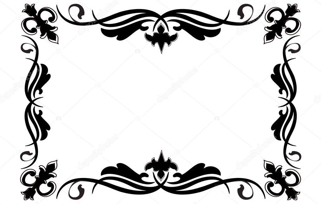schwarzer rahmen — Stockvektor © nicky2342 #9801223