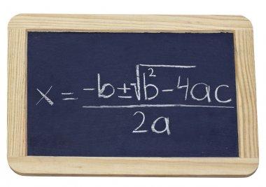 Chalkboard equation