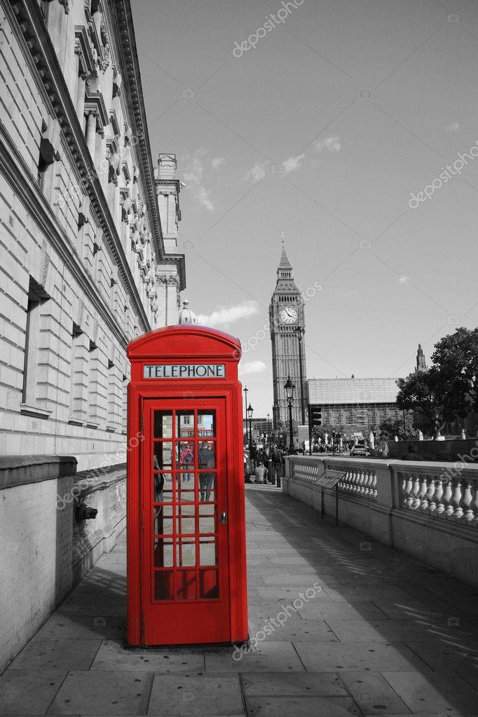 Big ben e la cabina telefonica rossa foto stock anizza for La cabina di zio ben
