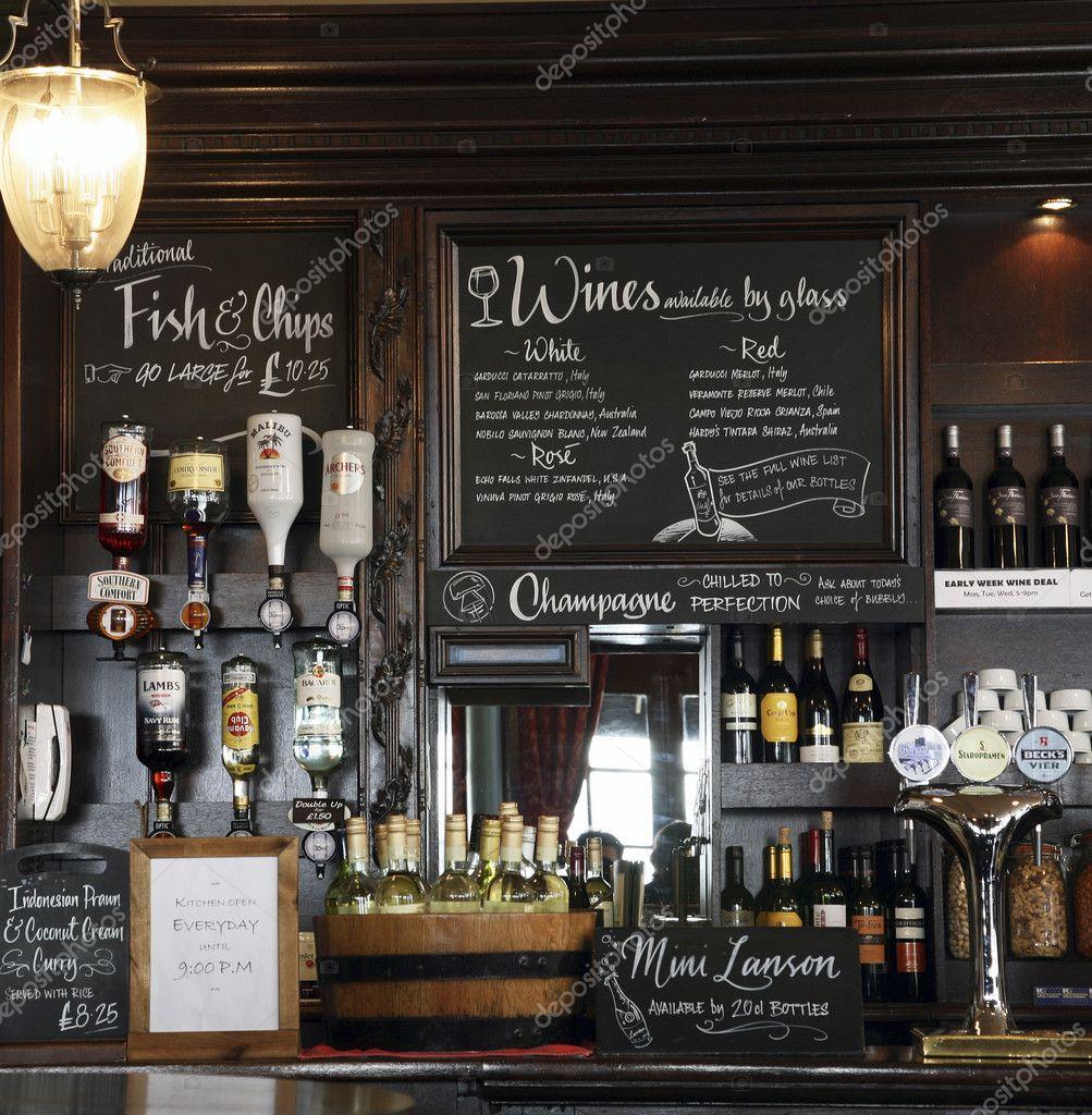 Inside view of a english pub