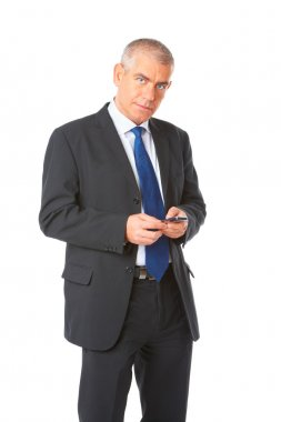 Portrait of business man with phone