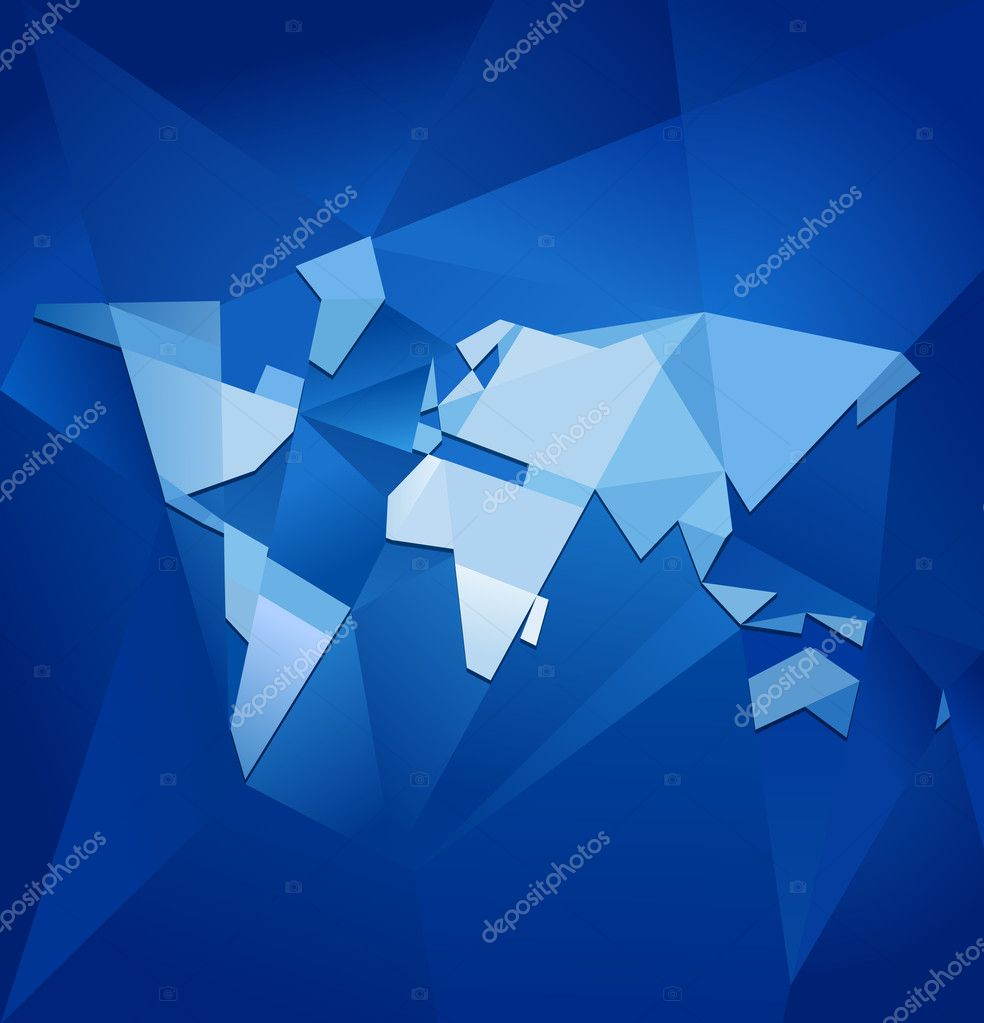Abstract world map vector stock vector natashin 9938621 abstract blue facet world map vector business theme vector by natashin gumiabroncs Images