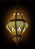 ilustrace stylové arabské lucerny
