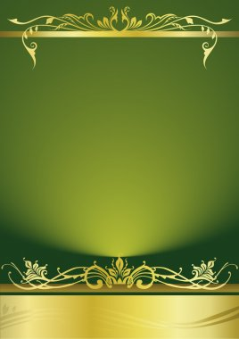 Elegant green metallic background
