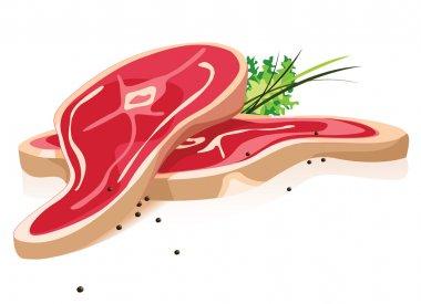 Fresh meat in vector illustration stock vector