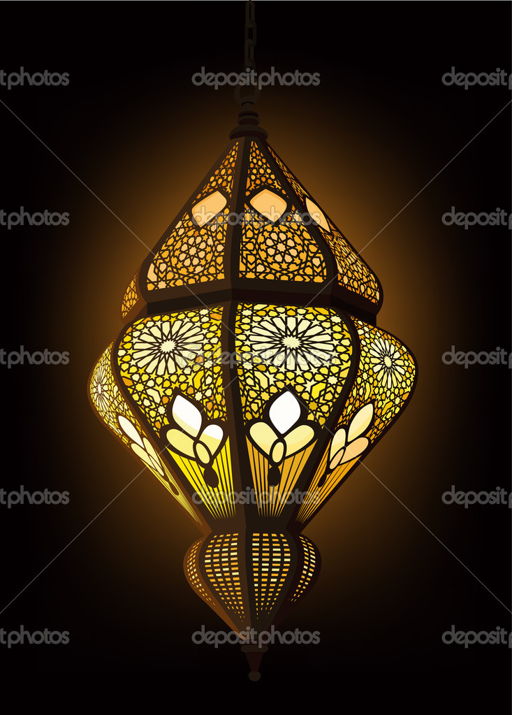 Illustration of stylish Arabic Lantern