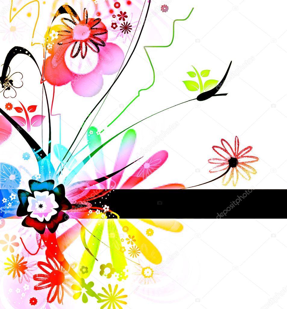 Crazy floral pattern
