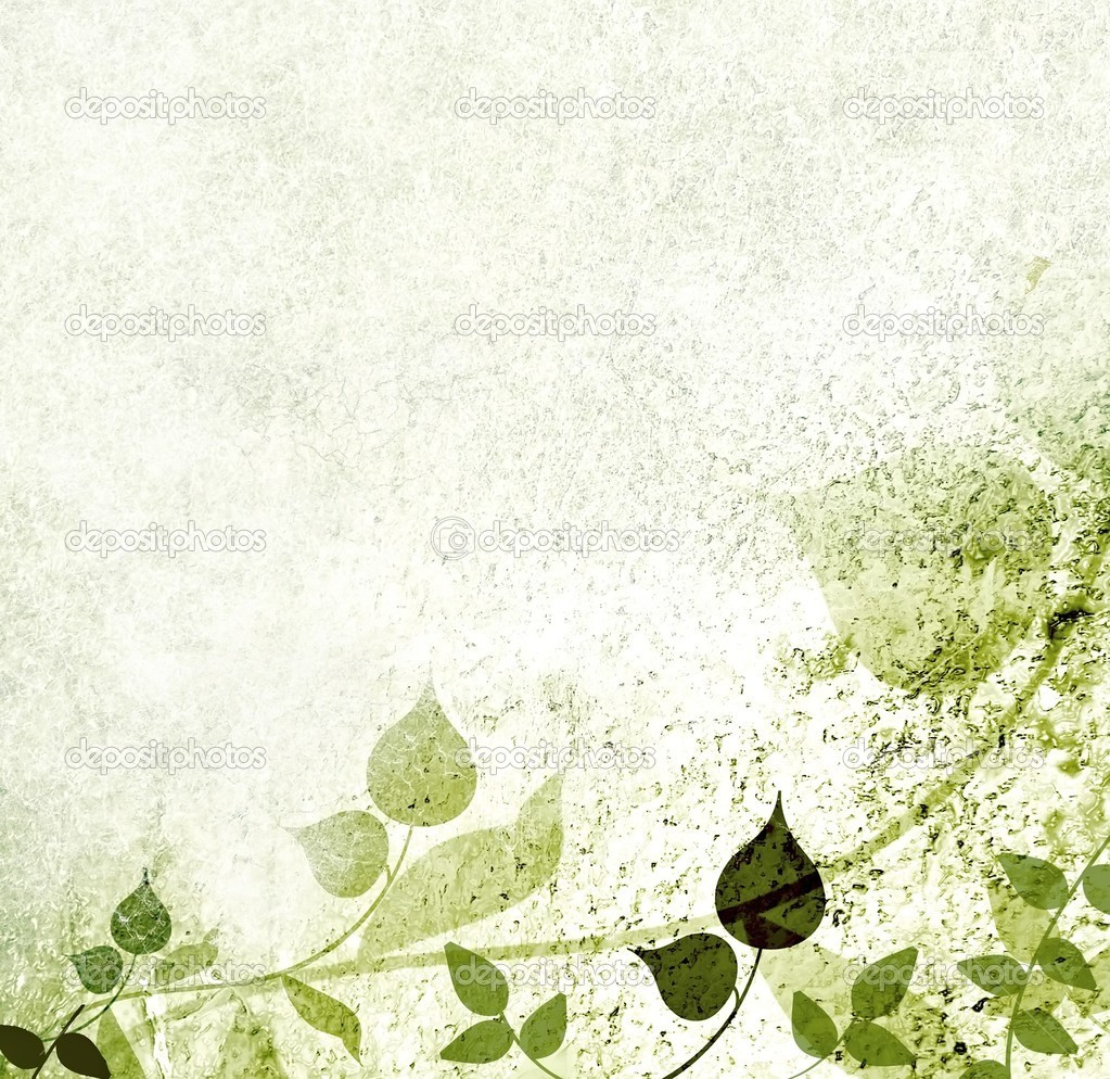 Romantic green leaves background