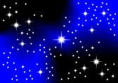 vesmír s hvězdami