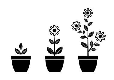 Black flower icon