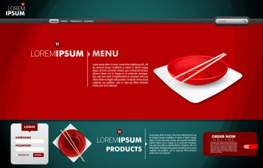 Chinese Food Web Template | Editable Vector Web Template