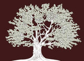 Fotografie Big tree vector graphical drawing