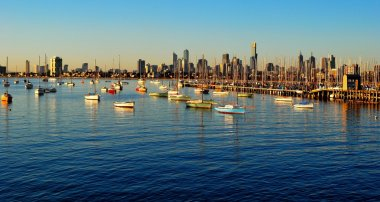 Melbourne skyline from St Kilda