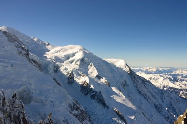 Mont Blanc peak of Alps