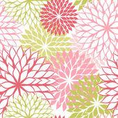 bezešvé pattern s rukou kreslí květiny, květinové ilustrace